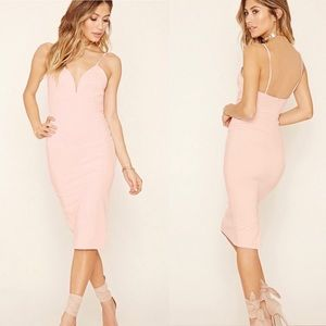 Pink forever 21 midi dress Size Small